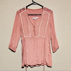 Forever 21 pink tunic top